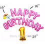 Balão Metalizado Happy Birthday 13 Letras