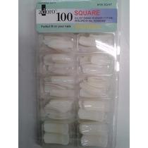 Kit Com 5 Caixinhas 100 Tips Unha Postiça Square Marca Adore