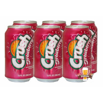 Refrigerante Crush Strawberry Morango 6 Latas 355ml Import