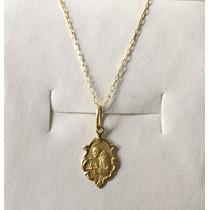 Pingente Medalha São Francisco De Ouro 18k Com Corrente