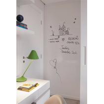 Adesivo Lousa Infantil Quadro Branco 2,00m X 50cm