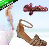 Sandalia Feminina Espadrille Anabela 01 - Chiquiteira Outlet