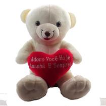 Urso Namorado Coração Frases Grande Pelucia Adoro Você Hoje.