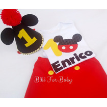 Kit Fantasia Infantil Smash The Cake Menino Mickey Mouse