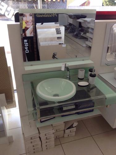 Gabinete Vidro Banheiro Chopin  Estilo Astra Branco 90cm à venda em Loanda P # Gabinete De Banheiro Venda