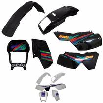 Kit De Carenagem Yamaha Dt 200 - Ades - Branco 94