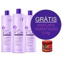Kit Plastica Dos Fios Selagem Térmica Cadiveu 3x1lt + Brinde