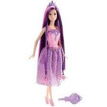 Barbie Reino Dos Penteados Mágicos Princesa Roxa