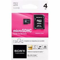 Cartão Memoria Micro Sdhc Sony 4gb