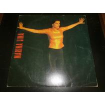 Lp Marina Lima, Ela E Eu, Disco Vinil C/ Encarte, Ano 1991
