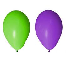 Balão Art-latex Nº7- Bexiga Para Festa Verde E Roxo 100u