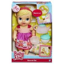 Boneca Baby Alive Hora Do Chá Loira Da Hasbro Original