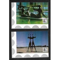 Xiii-lubrapex-4 Cartões Postais Com Vistas De Brasilia,novos
