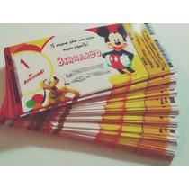 Mickey - Convite Ingresso Aniversário 50 Unidades