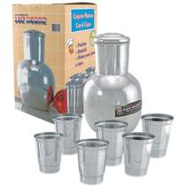 Conjunto Moringa Agua Cozinha Caixa Luxo C/ 6 Copos (fp)