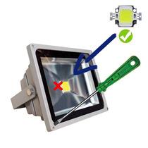 Kit 10 Peças Chip Led Reparo Peça Reposição Refletor 50w