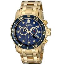 Relógio Invicta 0073 Banhado Ouro 18k Original - Importado