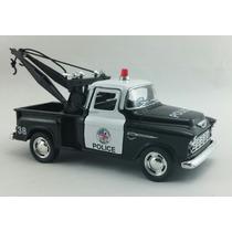 Miniatura Chevy Stepside Guincho 1955 Polícia Escala 1:32
