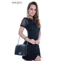 Vestido Feminino De Tecido Plano - Kam Bess - Ve0695