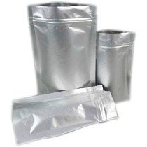 50 Sacos Saquinhos 15x10 Metalizados Com Zip Lembrancinhas