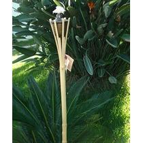 Kit 04 Tochas Potter De Bambu Iluminação Decoração 90cm