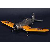 Avião Aeromodelo F4u Corsair Elétrico Com Eletrônica 800mm