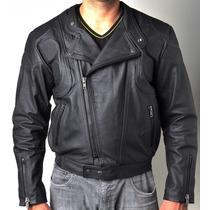 Jaqueta Masculina Motoqueiro Em Couro 100% Legítimo Frete Gr