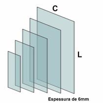 Vidro Temperado Incolor De 6mm Tamanho (30x120cm)