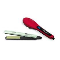 Prancha Shine Therapy 2x + Escova Elétrica Easy Brush