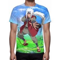 Camisa, Camiseta Anime Naruto Jiraiya - Estampa Total