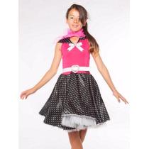 Vestido Para Festa Anos 60 Modelo Luxo Fantasia Poá - Adulto