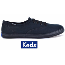 Tênis Keds Preto Lona Champion Woman Canvas - Kd100231