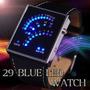 Relogio Pulso Black 29 Led Iluminado Azul Data Digital Homem