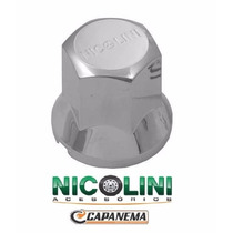 Capa Da Porca De Roda Cromada Para Caminhão 19mm (nicolini)