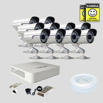 Kit Monitoramento Dvr Stand Alone 16 Canais Jfl 10 Cameras
