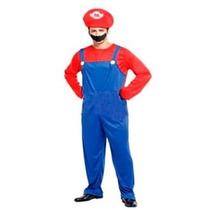 Fantasia Masculina Mario Bros - Tamanho Único