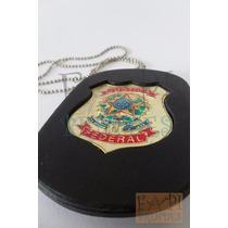Distintivo Bolachão Justiça Federal Não Temos Agente Polícia