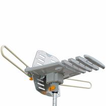 Antena Giratória Capte 360° Amplificada Vhf, Uhf, Digital
