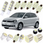 Kit Lâmpadas Led Polo Hatch Golf Pingo Teto Placa Luz Branca