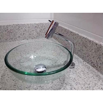 Conjunto Banheiro Cuba Vidro Torneira E Válvula Click 30x30