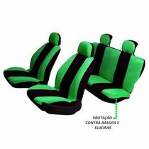 Capas Protetora De Bancos Automotivos Verde C/ Preto