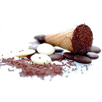 Mini Cone Trufado C/ Chocolate Belga: (acima De 150 Cones)