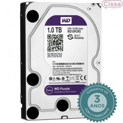 Hd Interno Wd Purple 1tb Sata 6gb / s 5400 Rpm - Wd10purx