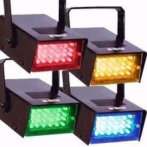 1 Mini Strobo Led Colorido Iluminação 4 Opções De Cores