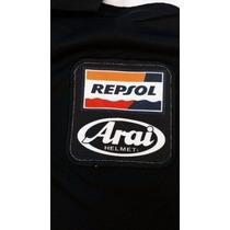 Camisa Repsol Honda Moto Gp Gola Polo Camiseta Preta
