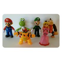 Bonecos Super Mario Bros Coleção Mario Koopalings Luigi