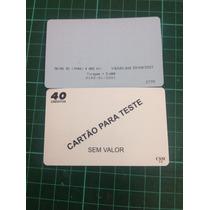 Cartao Telefônicotelefonico Raro De Teste Da Telemar. Tirage