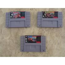 Trilogia Donkey Kong Super Nintendo Snes Originais 1 2 3!!!