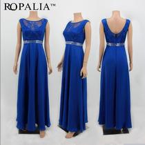 Vestido Azul Royal Renda Formanda Madrinha Festa Pronta Entr