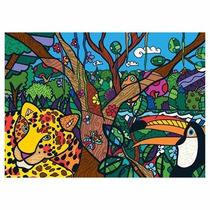 Puzzle - Quebra Cabeça Amazônia - Romero Brito - Grow